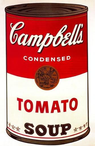 Mítica imagen de la sopa Campbell (Andy Warhol)