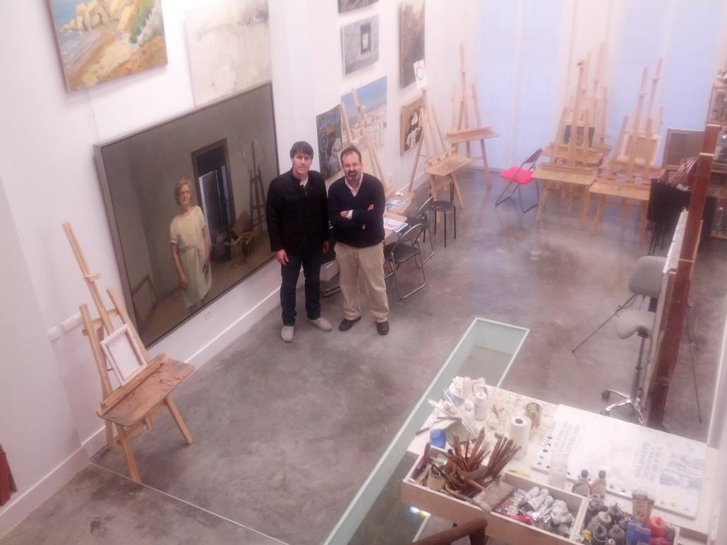 Con Jorge Gallego, en su estudio