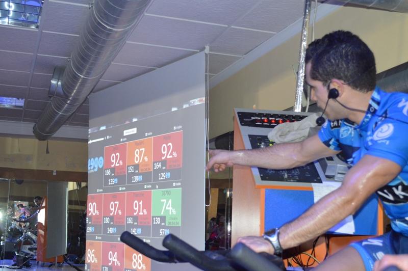 Uso de Seego en gimnasio por ciclistas