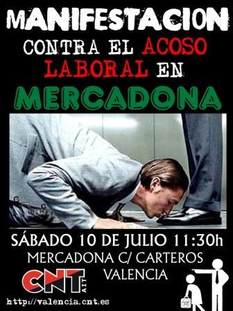 Acciones sindicales contra el acoso laboral de Mercadona