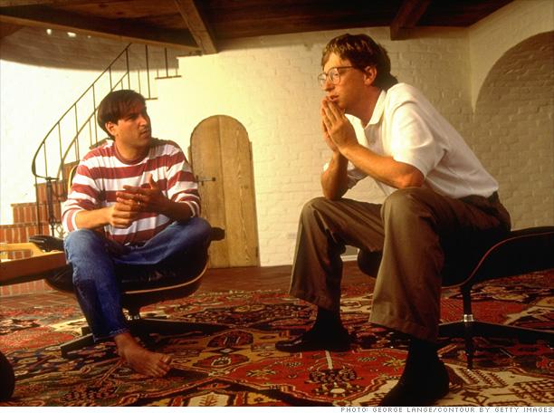 Steve Jobs y Bill Gates, a principios de los noventa